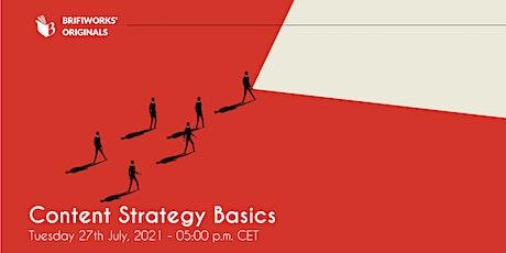 Content Strategy Basics Webinar biglietti