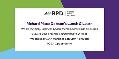 Richard Place Dobson's Lunch & Learn tickets