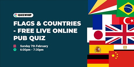 Flags & Countries - Free Live Online Pub Quiz from QuizWhip tickets