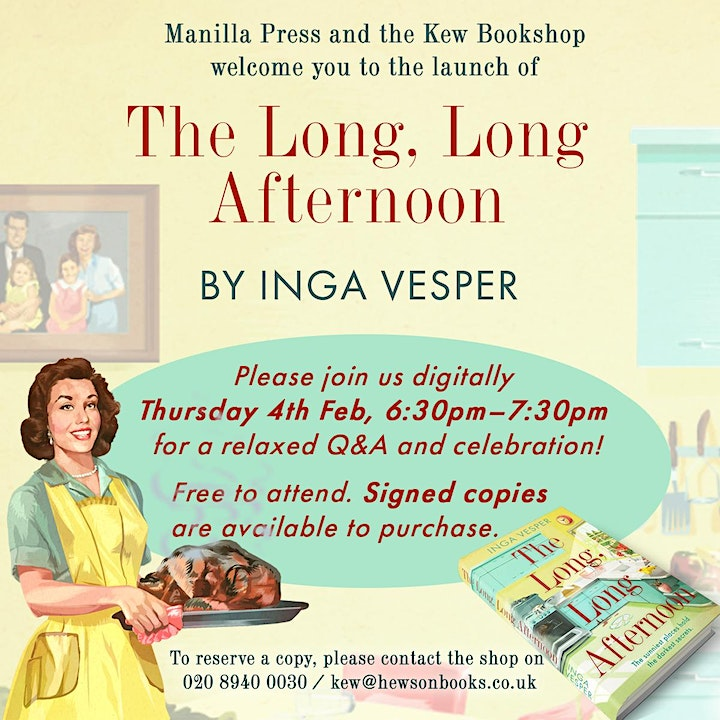 Book launch THE LONG, LONG AFTERNOON image