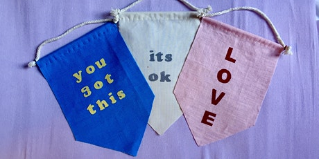 DIY applique banner workshop tickets