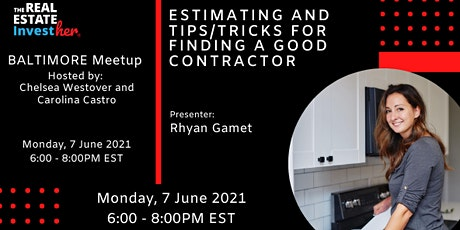 Estimating and Tips/Tricks for Finding a Good Contractor tickets