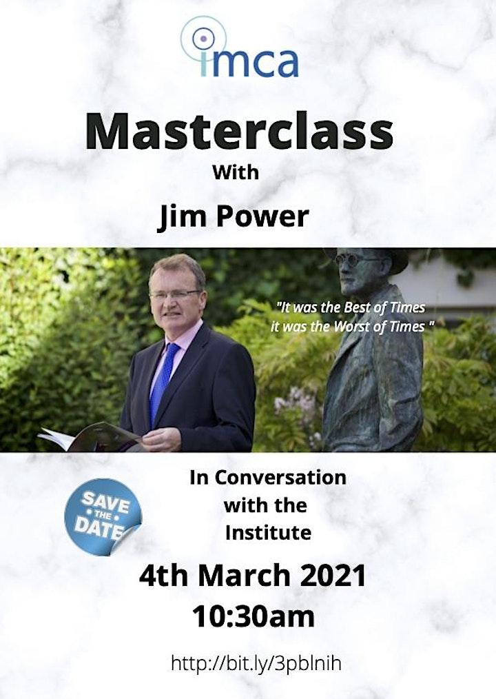 IMCA Masterclass with Jim Power image