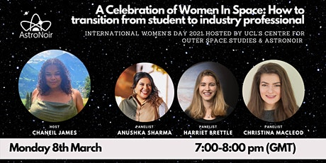 "International women's day@ COSS: ""A Celebration of Women In Space Tickets"