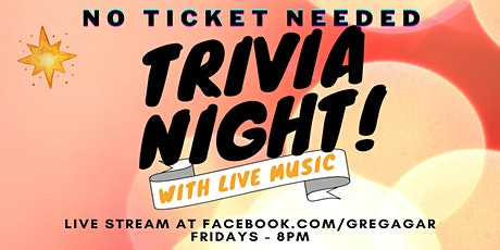 Online Trivia - with Live Music tickets