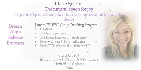 DARE to Believe Group Coaching Programme 8 week course tickets
