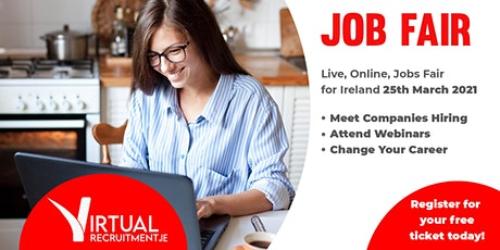 Virtual Recruitment Expo - Online Jobs Fair (Thurs, 25th  March, 2021) tickets