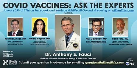 COVID Vaccines: Ask The Experts tickets