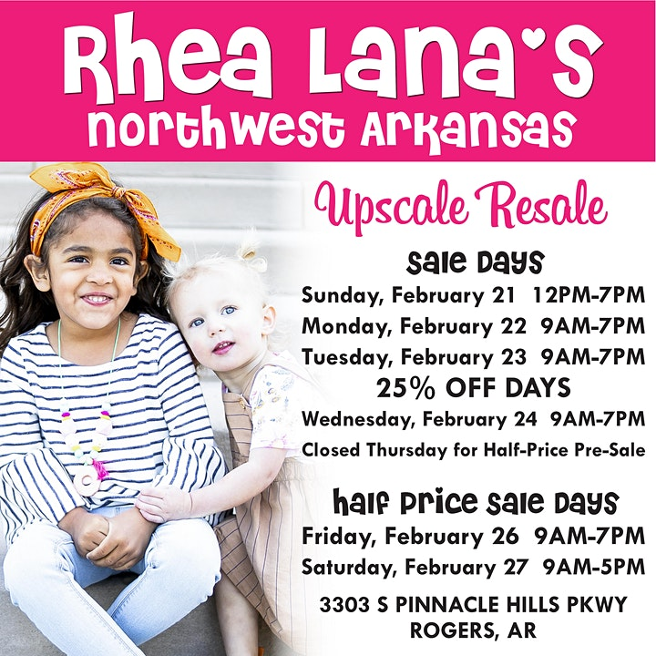 Rhea Lana's of Northwest Arkansas Spring Children's Consignment Sale image