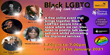 Black LGBTQ+ Self-Care through Poetry tickets