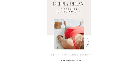 DEEPLY RELAX Tickets