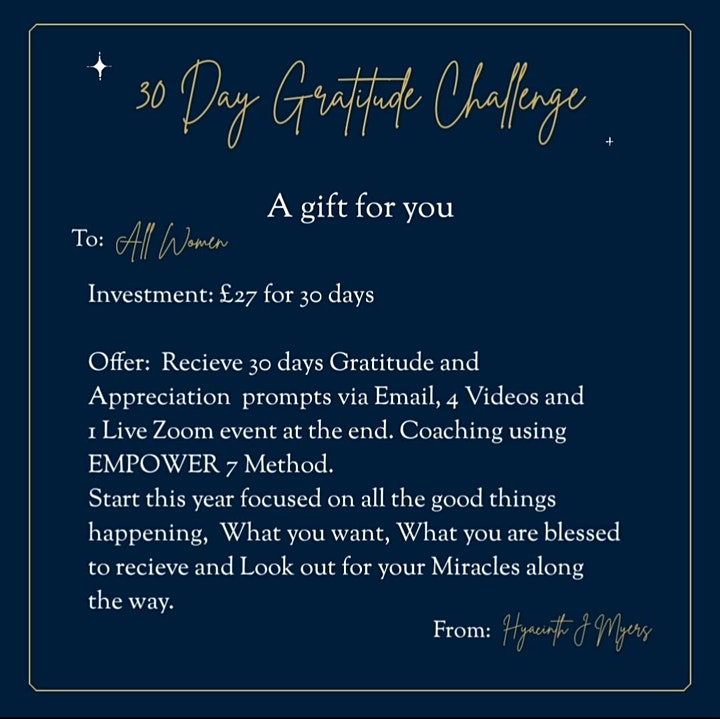 30 Day Gratitude and Compassion Challenge image