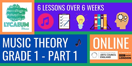 ABRSM Music Theory: Grade 1, Pt.1 (10-12yo's) - Pick your weekly time slot tickets
