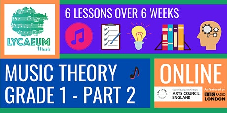 ABRSM Music Theory: Grade 1, Pt.2 (7-9yo's) - Pick your weekly time slot tickets