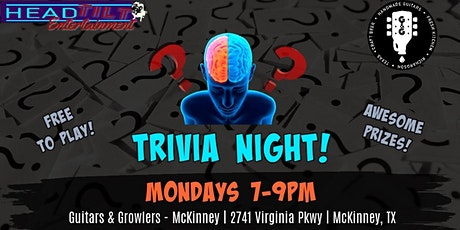 General Trivia at Guitars & Growlers- McKinney, TX tickets