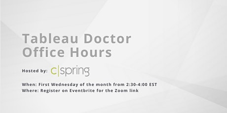 Tableau Doctor Office Hours entradas