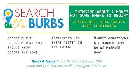 Do I Stay or Do I Go? Is it time to move to the Suburbs? 11am Session tickets