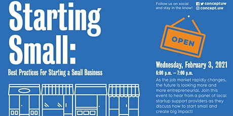 W21 Panel - Starting Small: Best Practices for Starting a Small Business tickets
