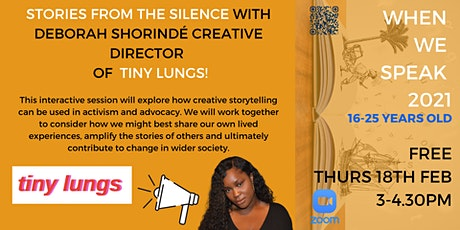 Stories From The Silence with Creative Director Deborah  from Tiny Lungs tickets