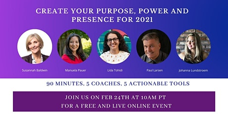 Create Your Purpose, Power & Presence for 2021 tickets