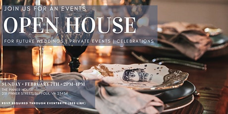 OPEN HOUSE-For Future Events tickets