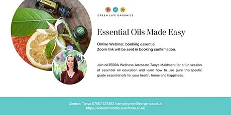 Essential Oils Made Easy - intro class tickets