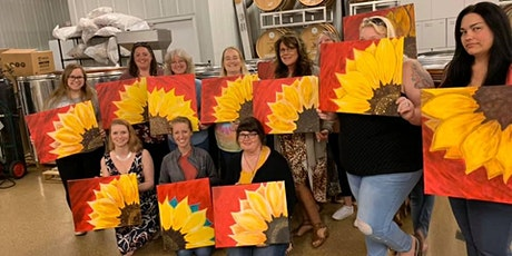 Part 2: Red Sunflower Canvas Paint Night tickets