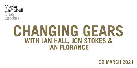 Changing Gears with Jon Stokes, Jan Hall & Ian Florance tickets