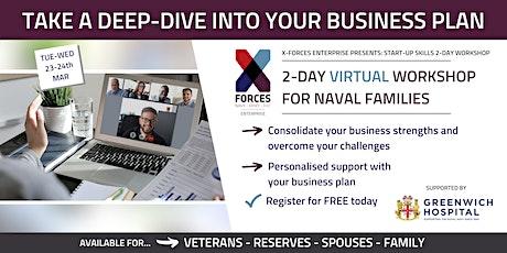 Naval Families: Start Up Skills Virtual Workshop tickets