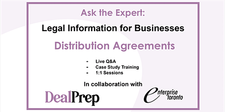 Ask the Expert: Legal Information for Businesses - Distribution Agreements tickets