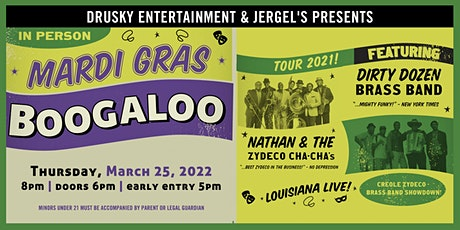 Mardi Gras Boogaloo: Dirty Dozen Brass Band & Nathan & the Zydeco Cha Chas tickets