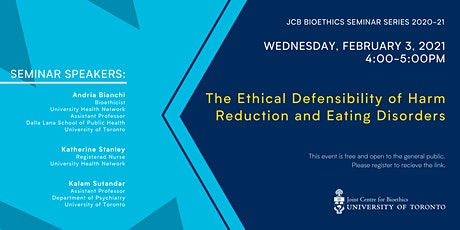 The Ethical Defensibility of Harm Reduction and Eating Disorders tickets