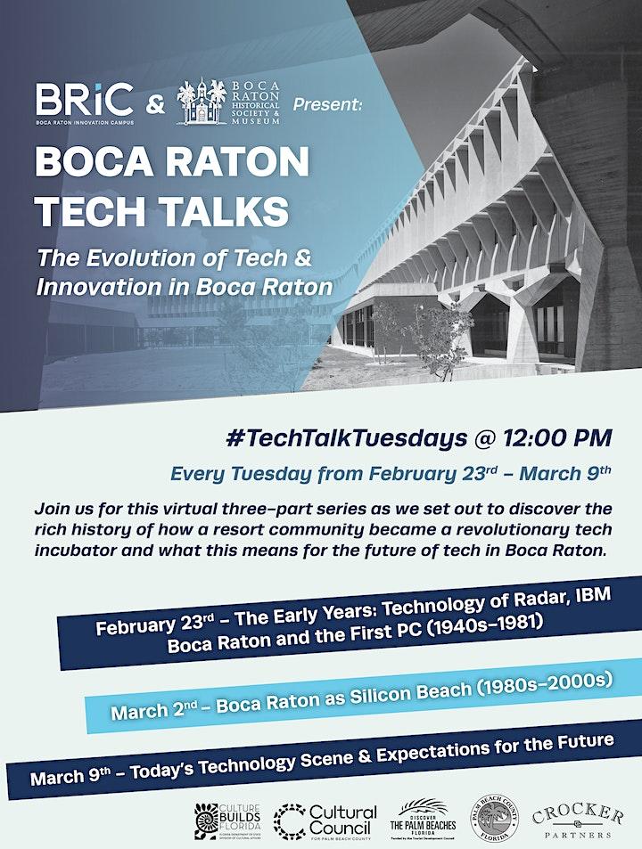 Boca Raton Tech Talks |  3-Part Series image