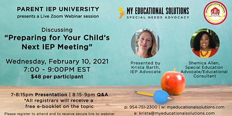 Preparing for Your Child's Next IEP Meeting tickets