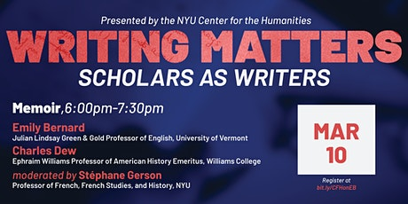 Writing Matters: Scholars as Writers — Memoir tickets