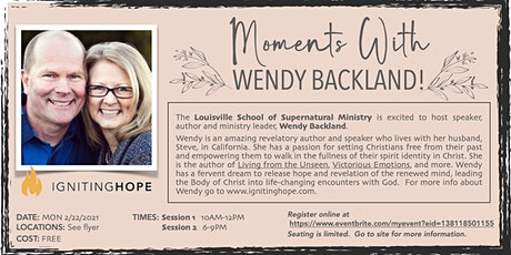 Moments With Wendy Backland! tickets