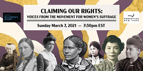 Claiming our Rights: Voices from the Movement for Women's Suffrage tickets