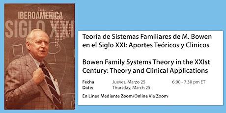 Teoría de Sistemas Familiares de M.Bowen en el Siglo XXI boletos