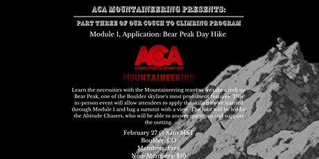 Couch to Climbing: Bear Peak Hike tickets