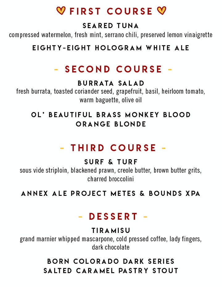 Valentine's Day Virtual Brewmaster's Dinner image