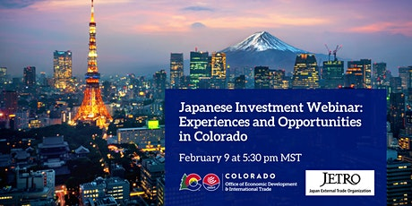 Japanese Investment Webinar: Experiences and Opportunities in Colorado tickets