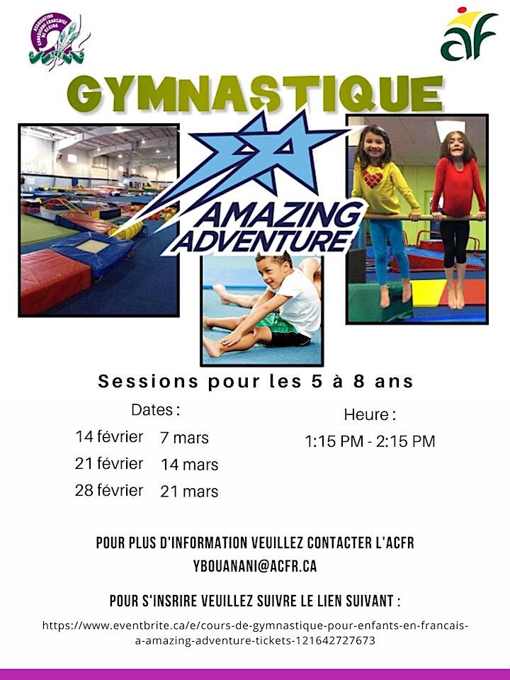 Cours de gymnastique pour enfants en français à Amazing Adventure image