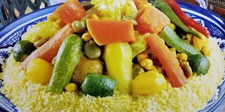 LIVE Virtual Cooking - Moroccan Couscous With Meat and Seven Vegetables tickets
