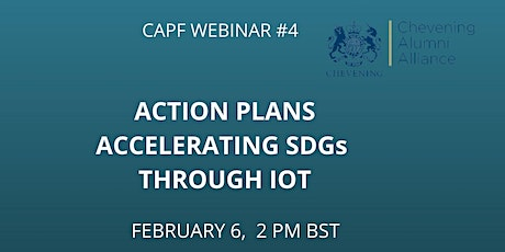 ACTION PLANS - ACCELERATING SDGs THROUGH IOT tickets