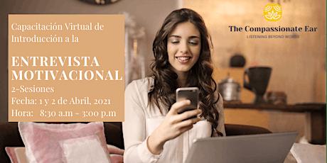 Capacitación Virtual de introducción a la Entrevista Motivacional entradas