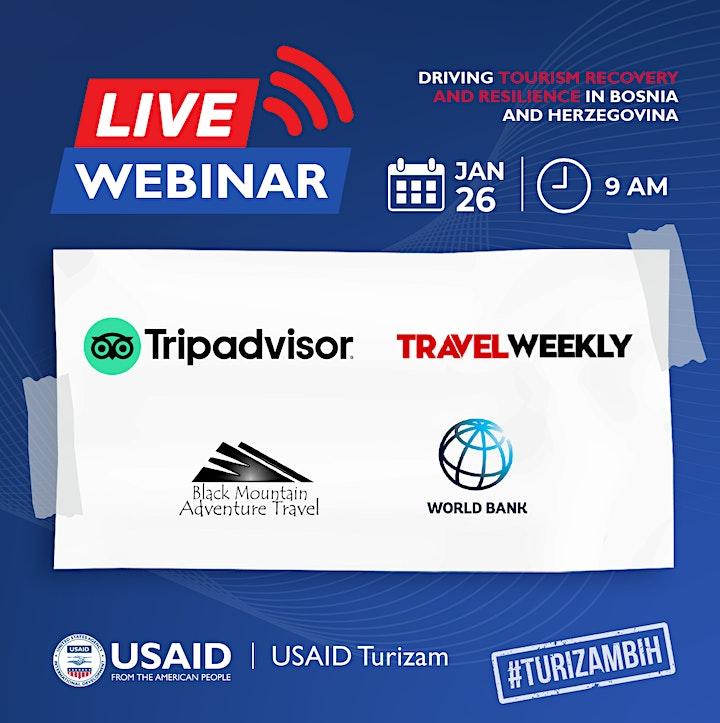 USAID Turizam Project Launch & Webinar   Predstavljanje Projekta i Webinar image