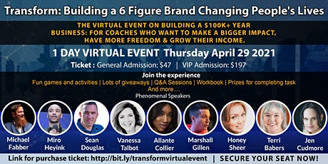 Transform: Building a 6 Figure Brand Changing People's Lives tickets