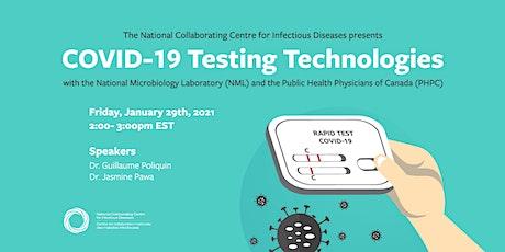 COVID-19 Testing Technologies tickets