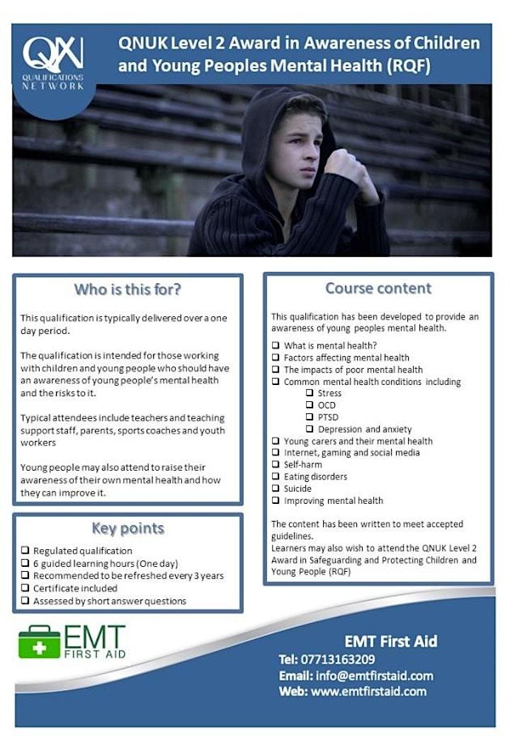 Level 2 Mental Health Award in Awareness of Children Mental Health via zoom image