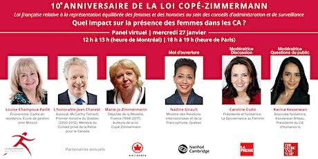 Panel virtuel : 10e anniversaire de la loi Copé-Zimmermann billets